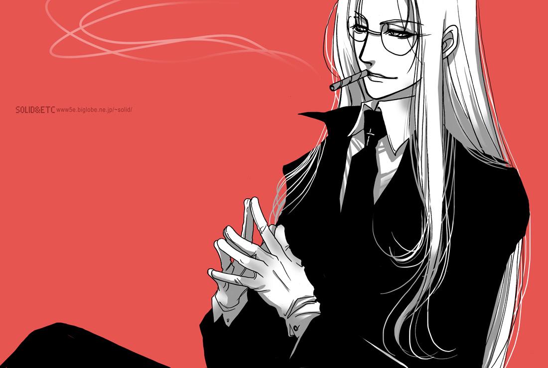 Smoke Wallpaper Iphone X Integra Hellsing Zerochan Anime Image Board