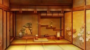 anime living background kimi ken ga tatami scenery character zerochan indoors interior dining cg board