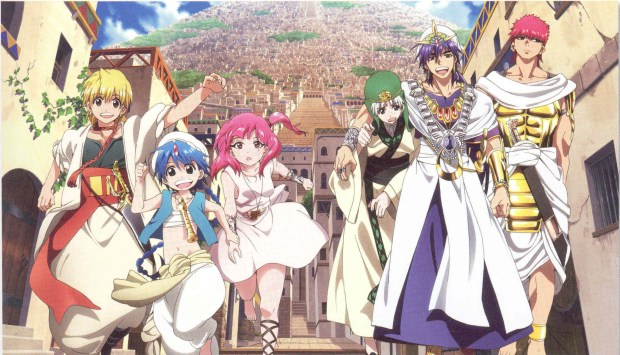 Image result for Magi – The Labyrinth of Magic anime