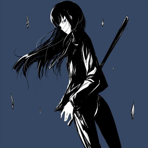 Anime Girl With Katana Wallpaper Mina Hazuki Darker Than Black Zerochan Anime Image Board