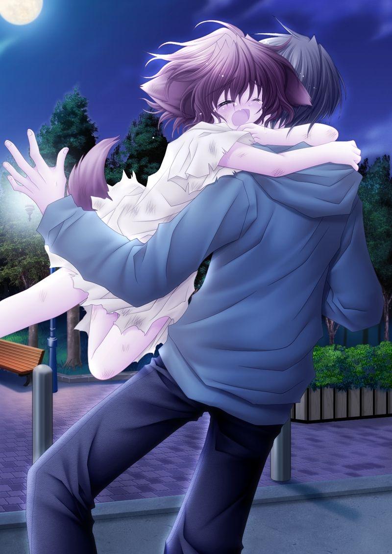 Boy And Girl Hugging Hd Wallpaper Pure Pure Mobile Wallpaper 95733 Zerochan Anime Image Board