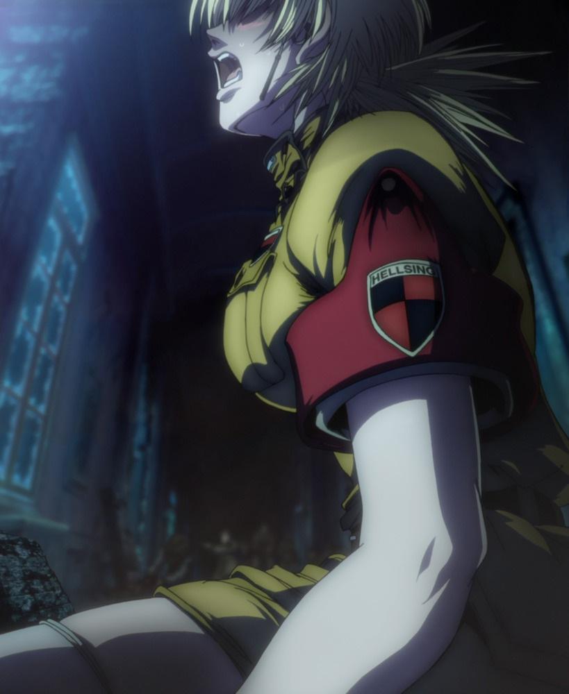 Gothic Girl Wallpaper Iphone Seras Victoria Hellsing Zerochan Anime Image Board