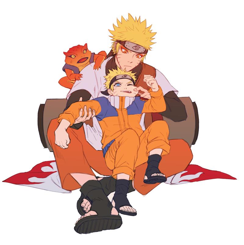 Naruto Kyuubi Mode Wallpaper Hd Gamakichi Naruto Zerochan Anime Image Board