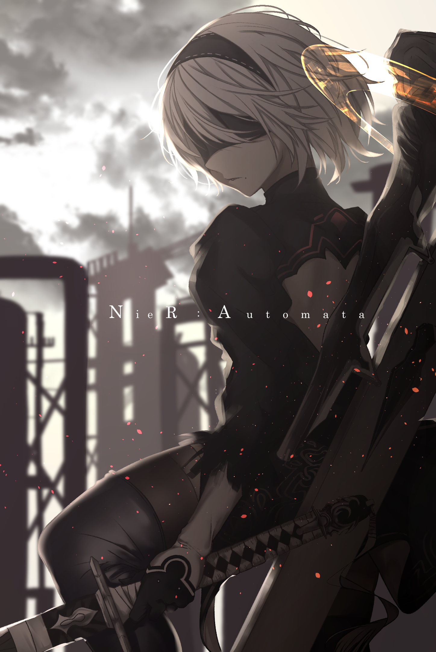 2b Phone Wallpaper : phone, wallpaper, NieR:, Automata,, Mobile, Wallpaper, Zerochan, Anime, Image, Board