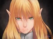 elf female solo blonde hair