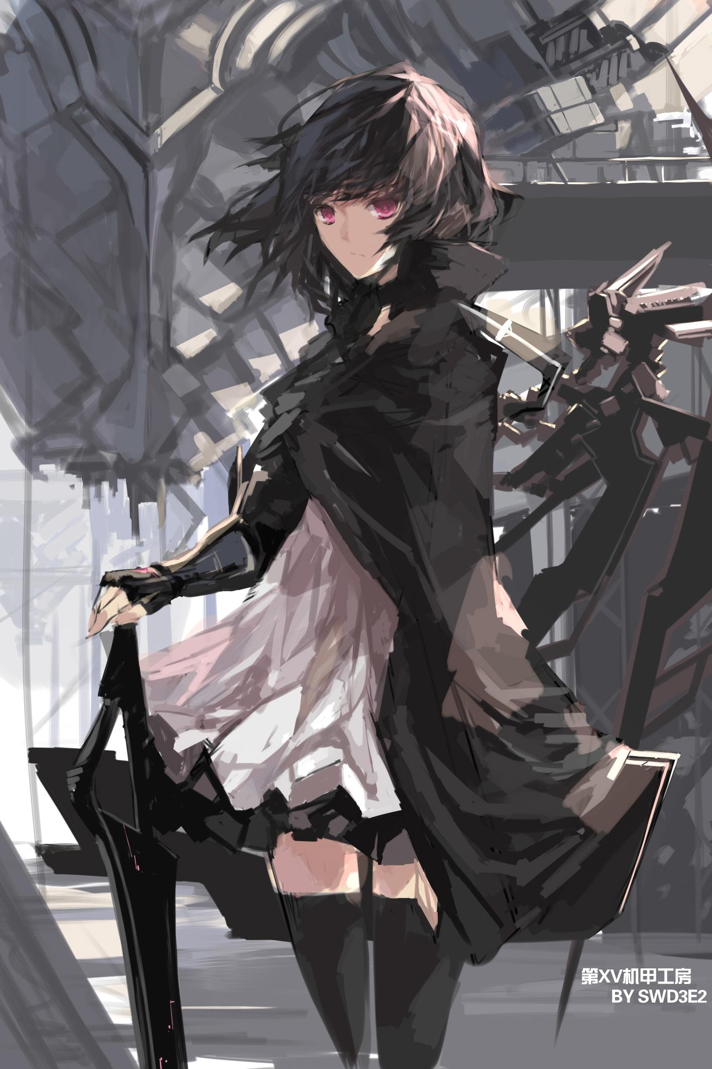 Anime Wallpaper Girls Hair Short Black Eyes Brown Swd3e2 Zerochan Anime Image Board