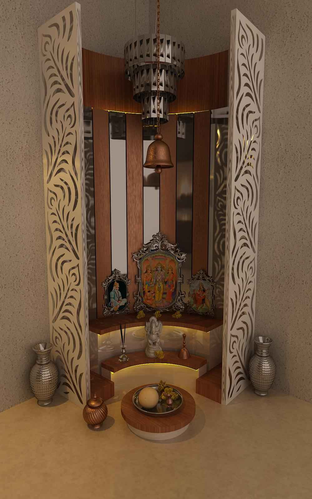 Corner Kitchen Cabinet Dimensions Simple Pooja Mandir Designs | Pooja Mandir Room Design