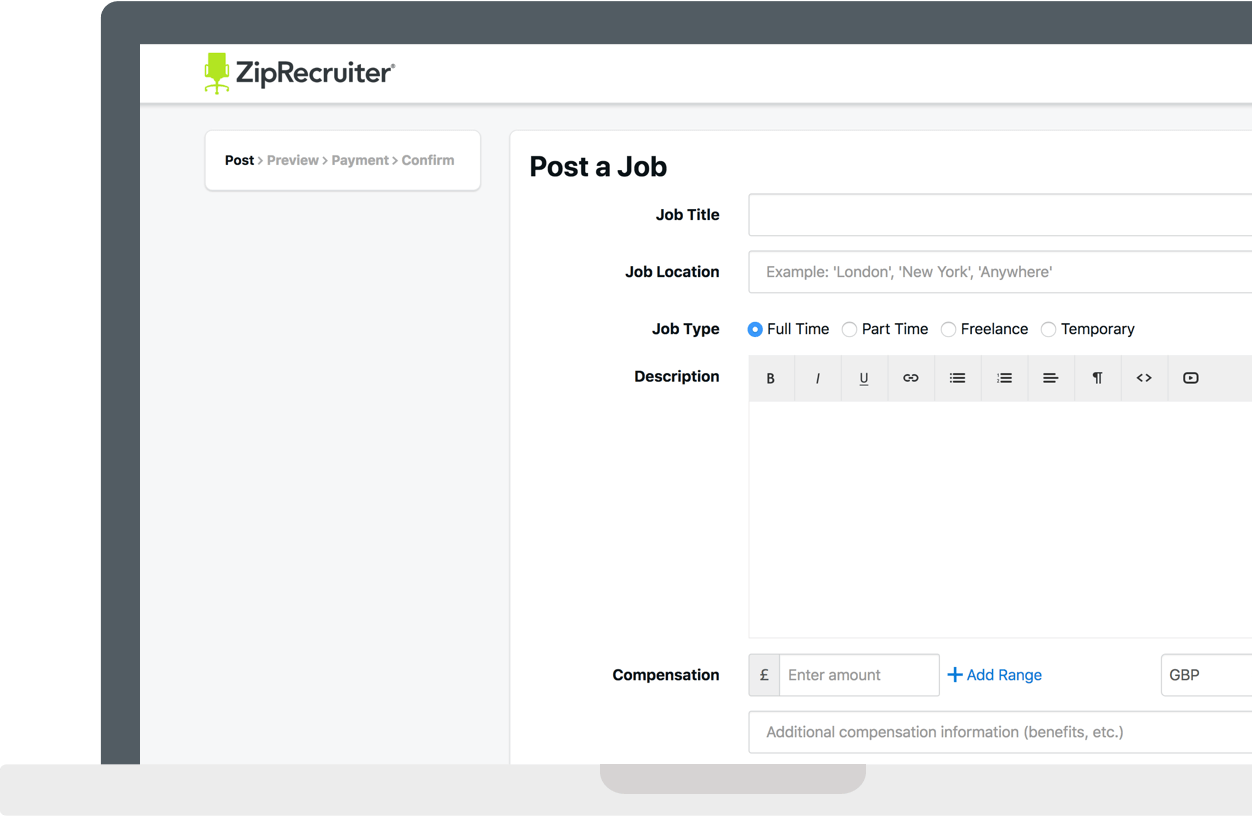 Post and Advertise Jobs for 99  ZipRecruitercouk