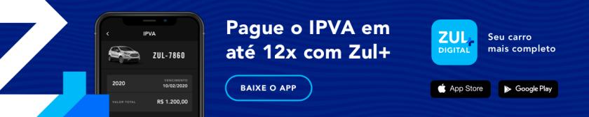 banner telas do app zul+ com pagamento de ipva