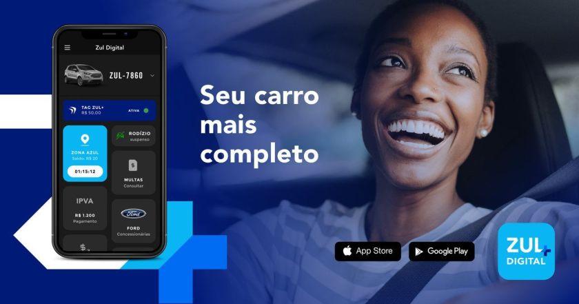 banner aplicativo para carros Zul+