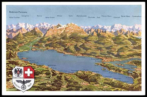Ansichtskarte  Postkarte Grenze Bodensee sterreich Schweiz Deutschland  akpoolde