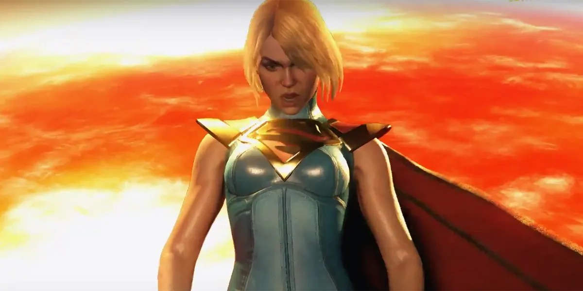 Superman Girl Wallpaper Hd Supergirl Fights Wonder Woman In Injustice 2 Gameplay