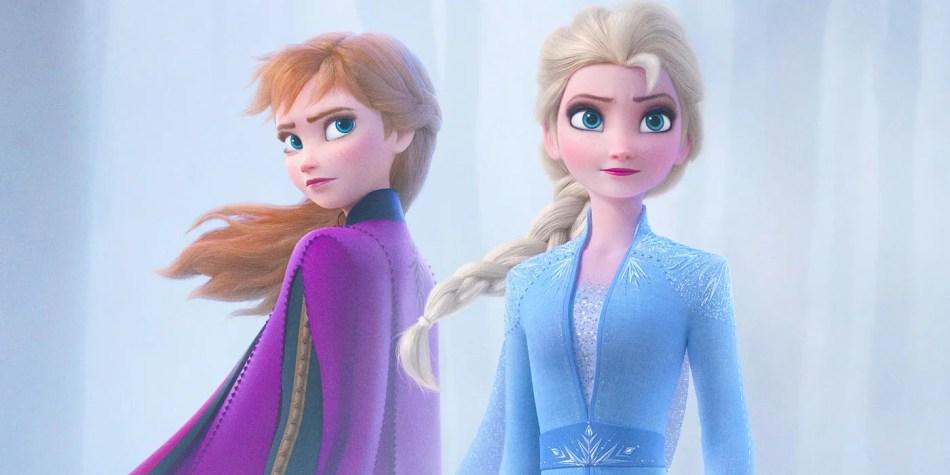 Elsa and Anna in Frozen II trailer