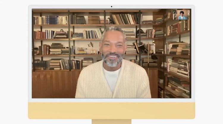 新 iMac 的摄像头用于 FaceTime 通话