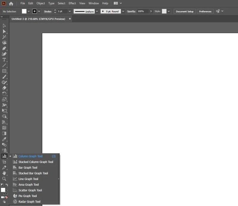 イラストレーター-グラフ-ツール