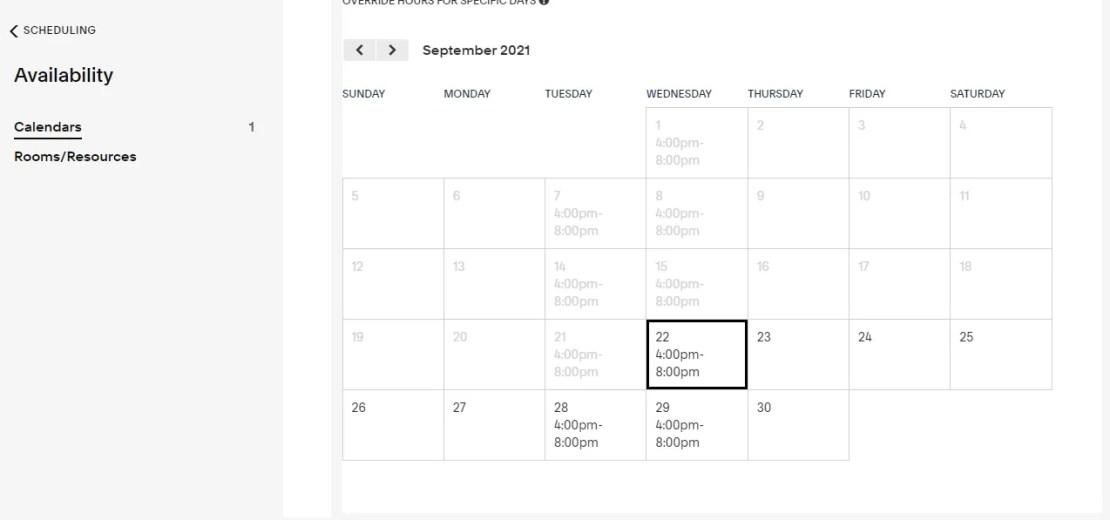 acuity scheduling website screenshot