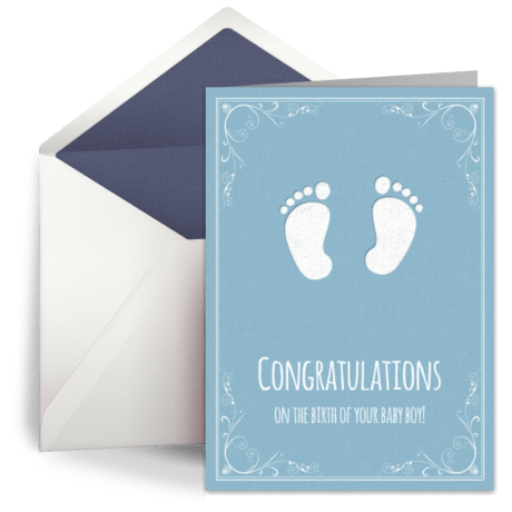 Congratulations Baby Boy Welcome Baby Card New Baby