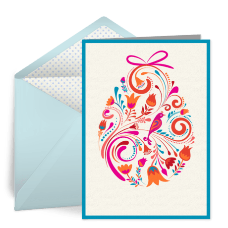 Colorful Easter Egg  Free Easter eCard Easter Card