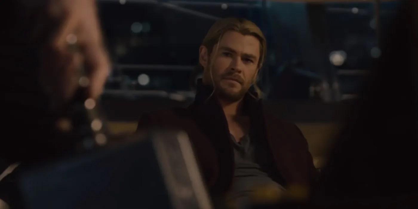 Captain America Picks Up Mjolnir