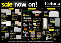 Tiletoria Cape Town  43 Paarden Eiland Rd  Catalogues  Trading Hours