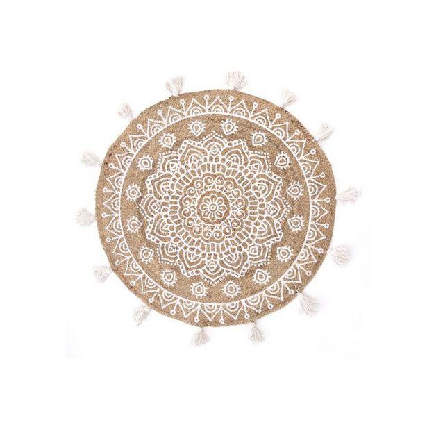tapis rond mandala en jute alice keynes
