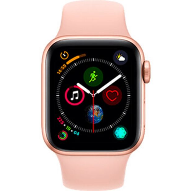 apple watch series 4 4g boitier 40 mm aluminium or avec bracelet sport rose des sables