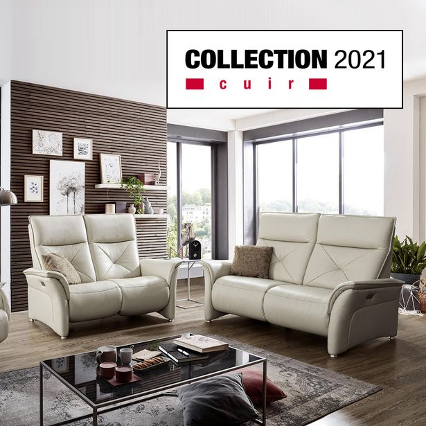 canape 2 places relaxation 100 cuir