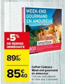 Smartbox Weekend Gourmand En Amoureux : smartbox, weekend, gourmand, amoureux, Acheter, Loisir, Montpellier, Promos, Réductions