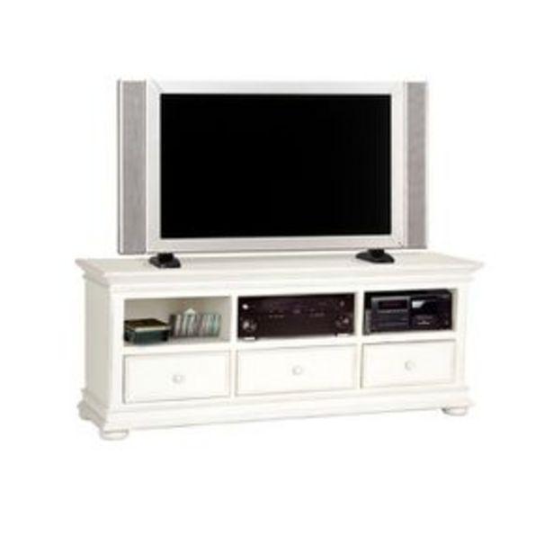 meuble tv blanc avec rangements harmonie