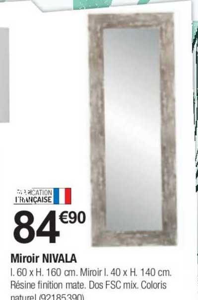 Offre Miroir Nivala Chez Bricorama