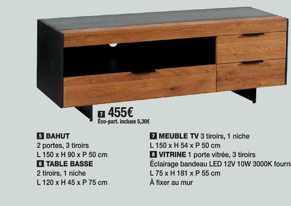 offre bahut table basse meuble tv
