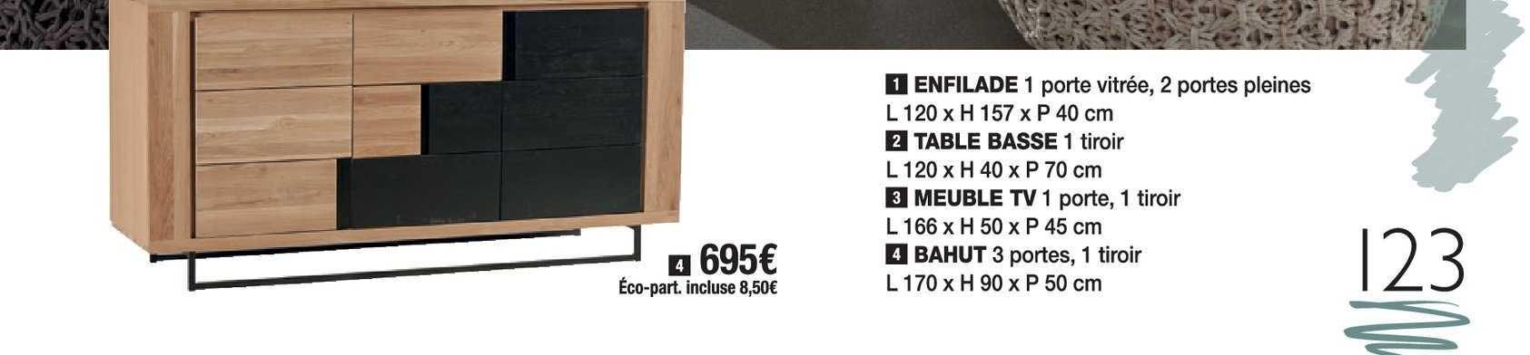 offre enfilade table basse meuble tv