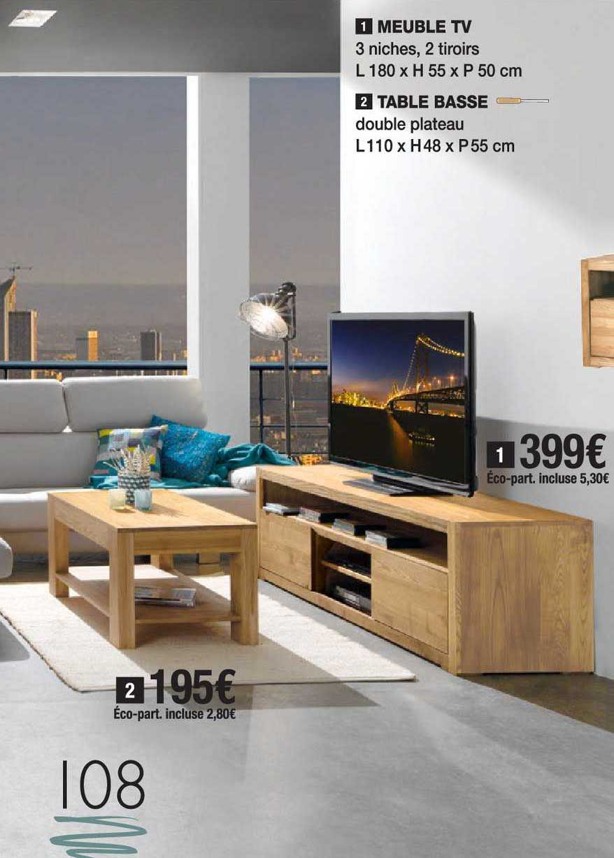 offre meuble tv table basse chez