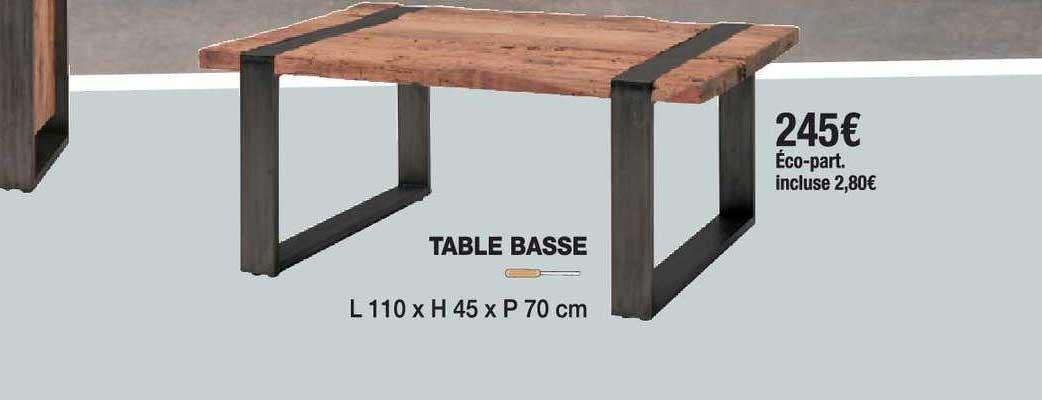 offre table basse chez cocktail scandinave