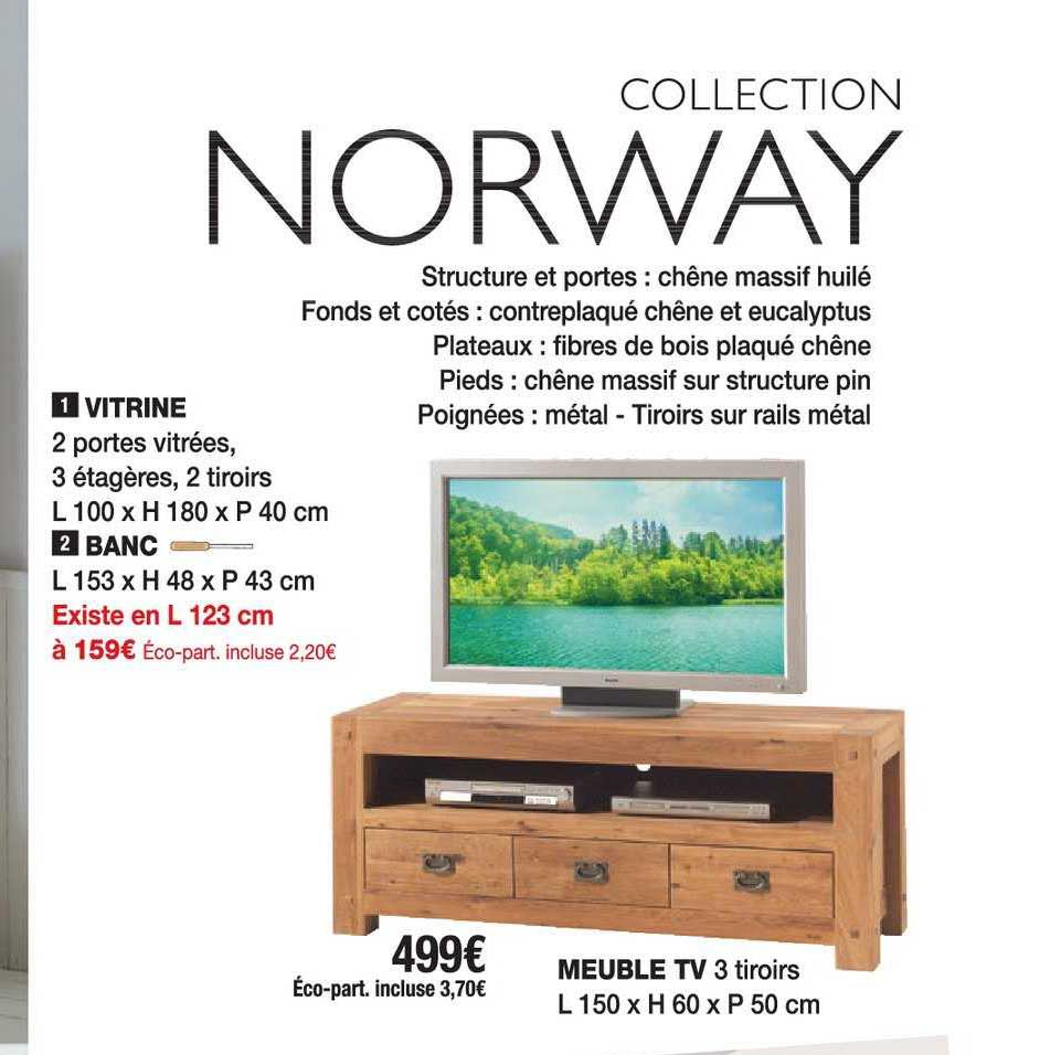 offre vitrine banc meuble tv chez