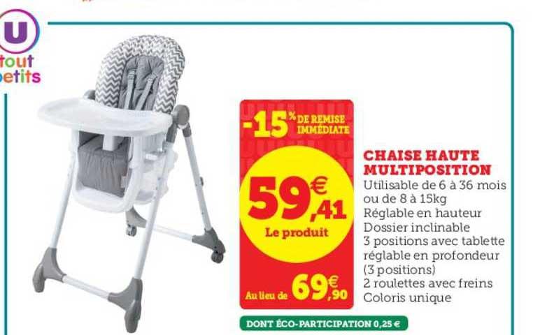 offre chaise haute multiposition 15