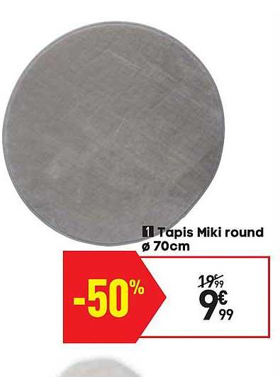 offre tapis miki rond chez conforama
