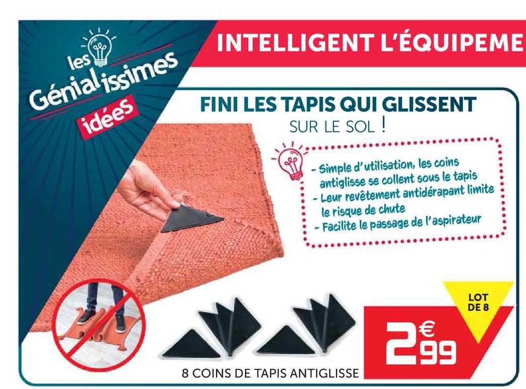 offre 8 coins de tapis antiglisse chez gifi