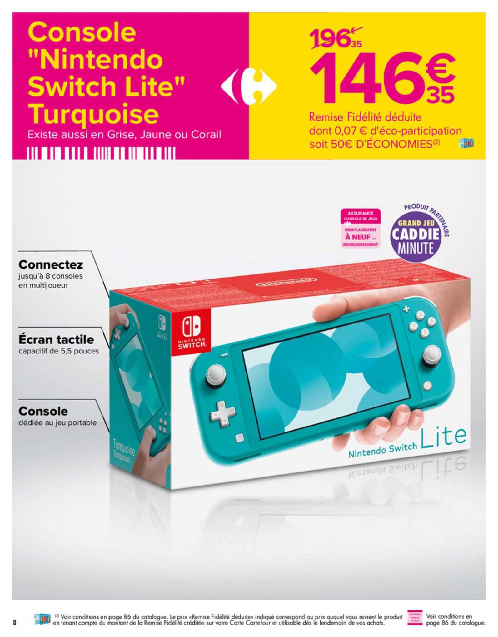 Nintendo Switch Lite Leclerc : nintendo, switch, leclerc, Offre, Console, Nintendo, Switch, Turquoise, Carrefour