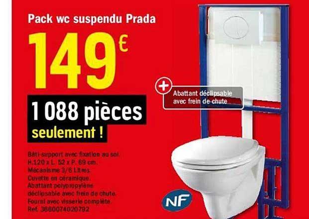 Offre Pack Wc Suspendu Prada Chez Brico Depot