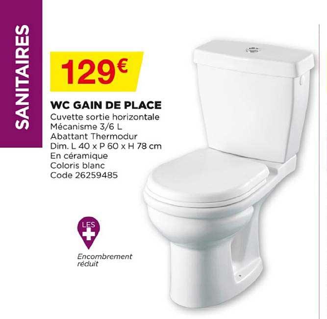 offre wc gain de place chez bricomarche