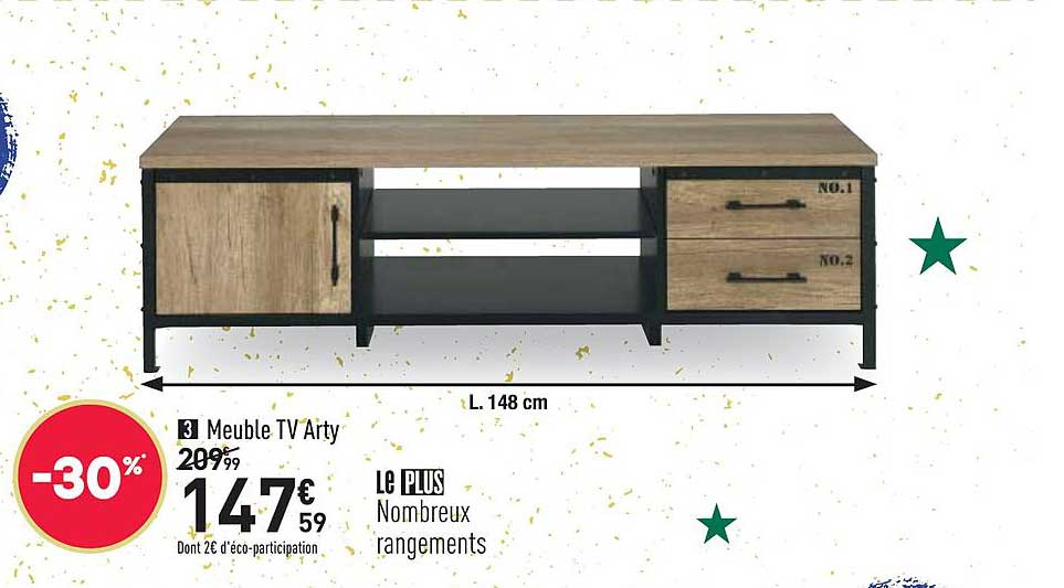 offre meuble tv arty chez conforama