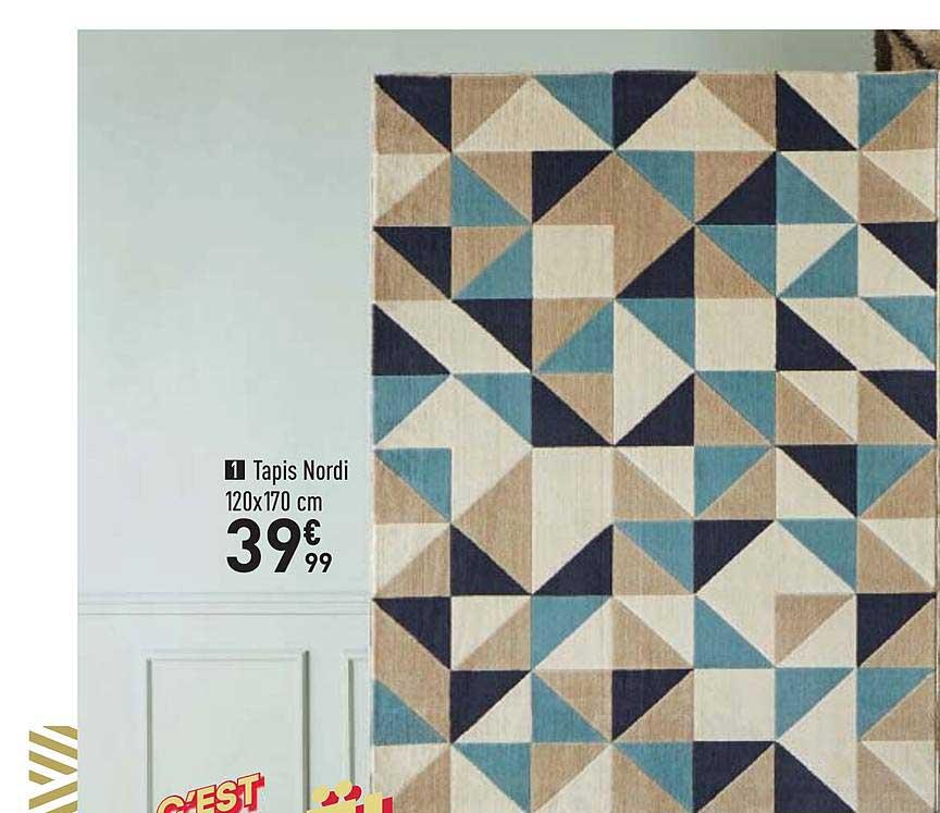 offre tapis nordi 120x170 cm chez conforama