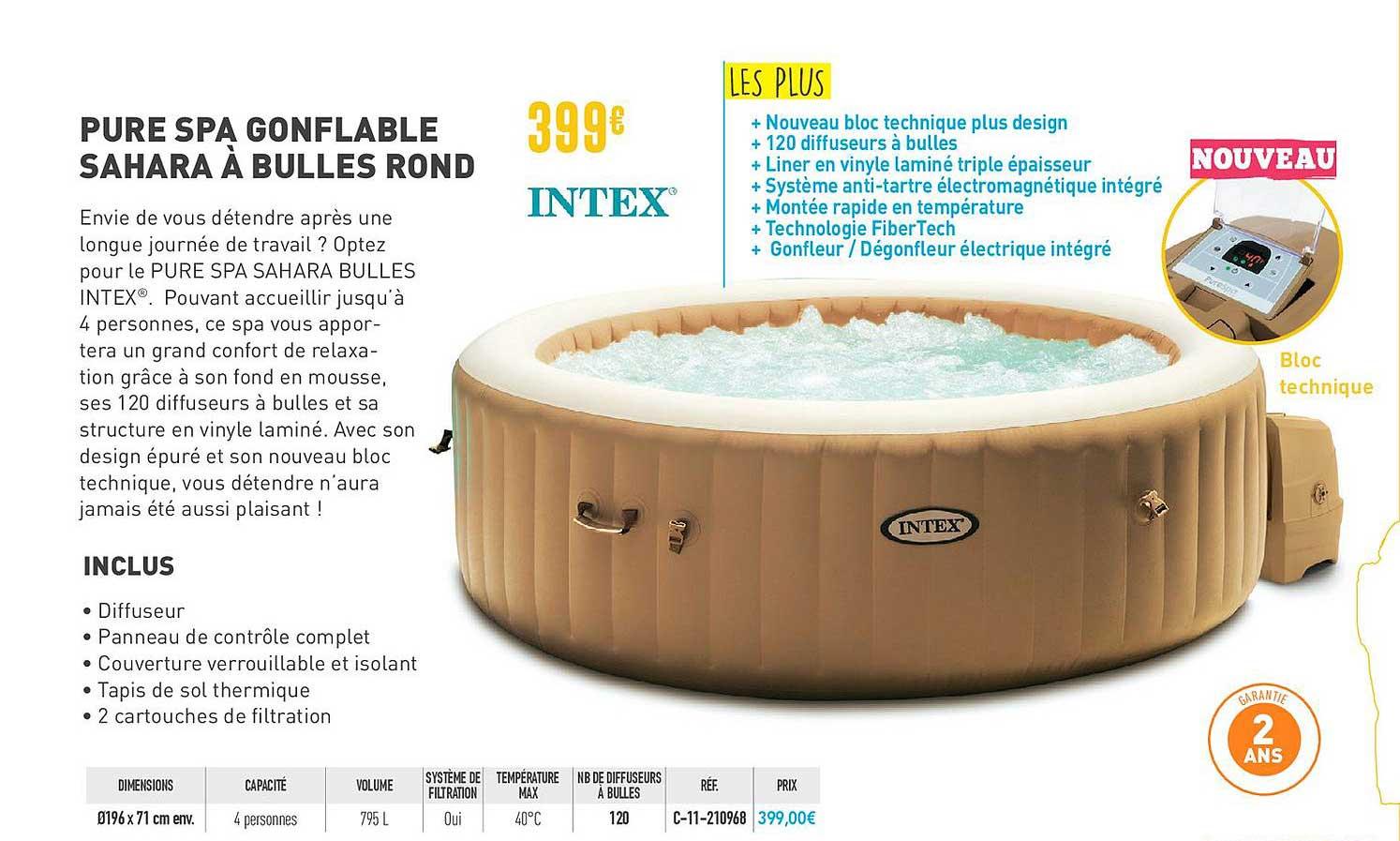bulles rond intex chez cash piscines