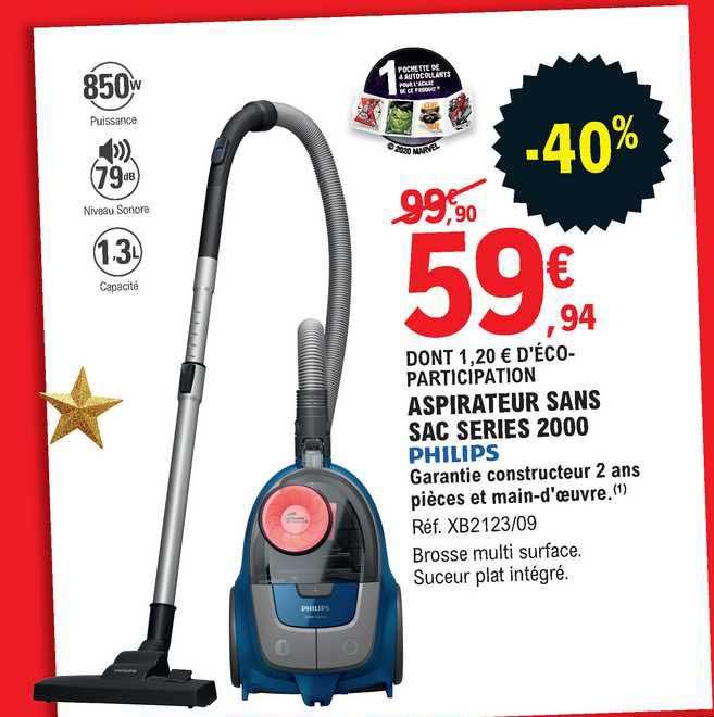 offre aspirateur sans sac series 2000