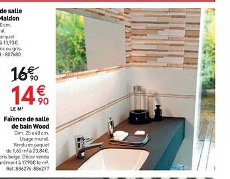 Offre Faience Salle De Bain Wood Chez Mr Bricolage