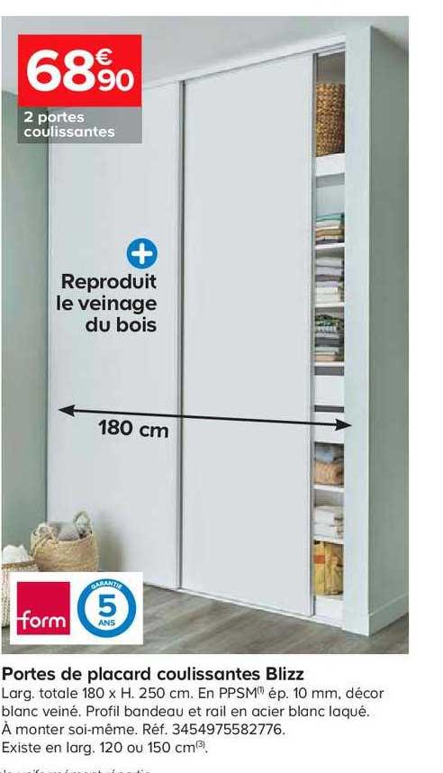 offre portes de placard coulissantes