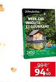 Week End Insolite Et Gourmand Wonderbox : insolite, gourmand, wonderbox, Offre, Week-end, Insolite, Gourmand, Wonderbox, Auchan