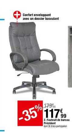 offre fauteuil de bureau prezident chez but