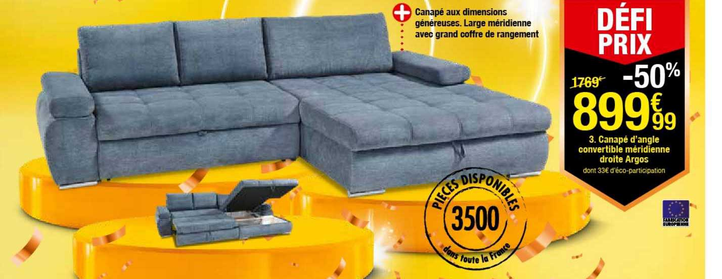 offre canape d angle convertible